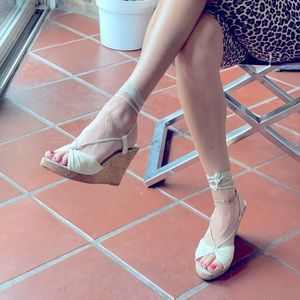 Nude leather espadrille sandals from Paris 40 9